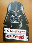 AMERICAN GREETINGS STAR WARS FATHERS DAY GREETING CARD to DAD from US