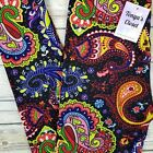 NWT Colorful Paisley Leggings Abstract Bold Bright Buttery Soft ONE SIZE OS