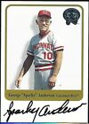 2001 Fleer Greats of the Game Sparky Anderson Reds HOF Auto Autograph MLB Card