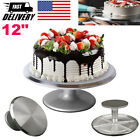 12 Inch Aluminum Cake Turntable Rotating Decorating Stand Pastry Baking Decor
