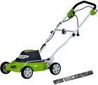 Greenworks 18 Inch 12 Amp Corded Electric Lawn Mower With Extra Blade 25012