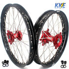 KKE 21/18 ENDURO WHEEL RIM FIT HONDA CR125R CR250R 96-99 CR500R 96-01 RED HUB