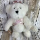 Boyds Bears Faith L Bearywell White Limited Edition Breast Cancer Longaberger