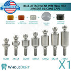 Ball Attachment Abutment 3 Insert Silicone Caps Dental Implant Internal Hex