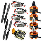 JMT DIY RC Drone FPV Quadcopter Parts Mini BLHeli OPTO 16A ESC Motor Props Kit