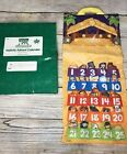 Rare Fisher Price Little People Fabric Advent Calendar Christmas Nativity box