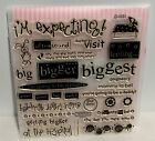CTMH EXPECTING Baby Shower Album Scrapbook Pregnancy Clear Rubber Stamps Set