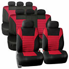 3 Row 8 Seaters Seat Covers For SUV Van 3D Mesh Red Black Full Set