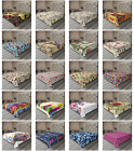 Ambesonne Colorful Style Flat Sheet Top Sheet Decorative Bedding 6 Sizes
