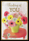 043 GC Flower Thinking Of You Greeting Card Gold Accent Hallmark