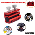 1×Motorcycle Dual Cable Oiler Lubricator Luber Tool Brake Grease Clutch 2 bolts