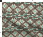 Navajo Feathers Southwestern Boho Native Fabric Printed by Spoonflower BTY