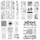 Flower Baby Animals Clear Stamp With Cutting dies Diy Scrapbooking Paper Cards