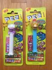 1999 European PEZ Crazy Animals Camel Octopus on Card Lot of 2 NEW Please Read