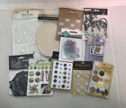 11 Packs Embellishments Sticky Pockets Chalk Floral Metal Tags Scrapbooking Card