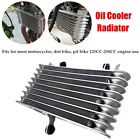 Aluminum Motorcycle Engine Oil Cooler Radiator Universal For 125cc-250cc Engine