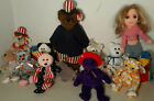 Lot 15 Ty Beanie Babie GIRLZ Jabber UNCLE SAM Pirouette RUBY Count MRS Motherly