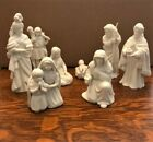Avon White Porcelain Bisque Nativity Set 19 Piece