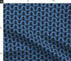 Blue + Black Octopus Nautical Nursery Bubbles Fabric Printed by Spoonflower BTY