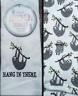 Very cute Sloths Set of 2 Kitchen Towels NWT