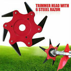 New 6 Steel Blades Razors 65Mn Lawn Mower Grass Eater Trimmer Head Brush Cutter
