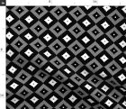 Southwest Cross Diamonds Native American Fabric Printed by Spoonflower BTY