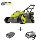 16 in 40 Volt Cordless Battery Walk Behind Push Mower Kit with 40 Ah Battery +
