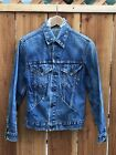Embroidered Vintage Levis Big E Denim Jean Jacket Trucker Collector Piece
