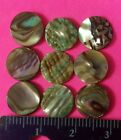 9pc LOT NEW MOTHER OF PEARL BUTTONS 9MM UNDRILLED NO HOLES MOP NATURAL ABALONE