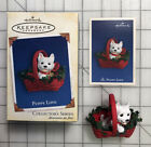 hallmark keepsake collectors series Puppy LOVE ornament With Holiday Memory Card