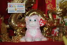 TY BEANIE BABY CURTSY THE PINK/WHITE CAT-5