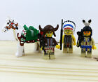 LEGO Western Native American Indian Minifigures and Painted Horse Lot