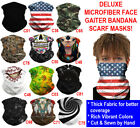 Deluxe Tube Bandana Scarf Neck Gaiter Head Face Mask Multi use Outdoor Cap Lot
