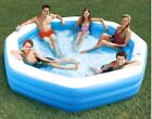 Summer Waves 10 Octagonal Inflatable Family Swim Pool Backyard Kid Drink Holder