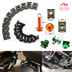 10Pcs Universal Motorcycle 6mm Fairing Body Work Bolts Screw Spring Bolots Nuts