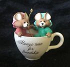 Hallmark Keepsake Ornament FRIENDSHIP TIME 1989 Vintage Mice in Teacup
