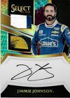 2017 SELECT RACING DUAL SWATCH TYE DYE AUTOGRAPH CARD OF JIMMIE JOHNSON 4 7 SSP