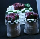 Salt  Pepper Shakers Made in China 3 piece Shakers  Napkin Holder 312