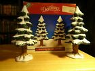 Lemax Dickensvale Porcelain Pine Trees Set Of 2 Village Collection  8