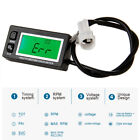 Digital Small Engine Tachometer Hour Meter Voltmeter For 2 & 4 Stroke Motorcycle