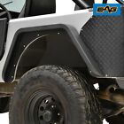 EAG Rear Fender Flare Pair Black Textured Steel Fit 76 86 Jeep Wrangler CJ7