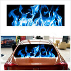 65X22in Car Truck SUV Rear Window Decal Stickers Burning Blue Flame Tint Totem