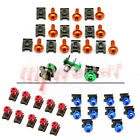 6mm 10Pcs Fairing Body M6 Spire Speed Fastener Clips Screw Bolots Nuts Work Bolt