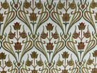 Mackintosh Nouveaux Deco Jacquard Gold Green Curtain Upholstery Fabric