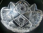 Beautiful Vintage Cut Crystal Glass Saw Tooth Rim Heavily Decorated Bowl