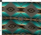 Native American Southwest Southwestern Tribal Fabric Printed by Spoonflower BTY