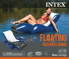 Inflatable Floating Lounge Pool Recliner Lounger Chair with Cup Holders