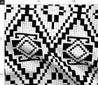 Black And White Native Geometric Large Scale Fabric Printed by Spoonflower BTY