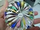 Murano Pastel Ribbon Art Glass Paperweight Excellent Mint Condition 1887 Cane