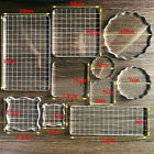 Clear Stamp Block Album Scrapbooking Crafts Acrylic Stamping Tool DIY Accessory